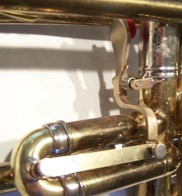 Image of custom work on a trumpet